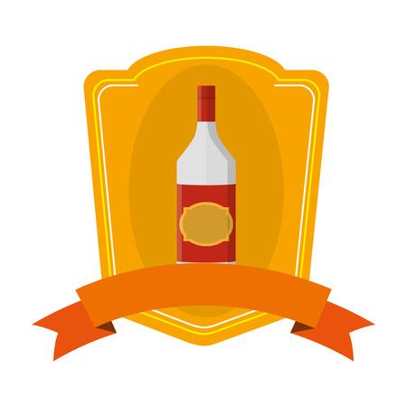 aguardiente, licor, botella, bebida, emblema