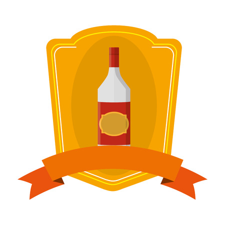 schnapps liquor bottle beverage emblem Standard-Bild - 102286708