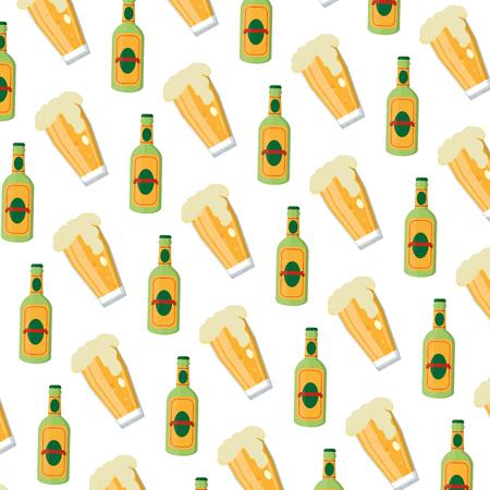 schnapps liquor bottle and beer glass background Standard-Bild - 102286787