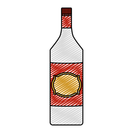 Doodle aguardiente alcohol botella licor bebida