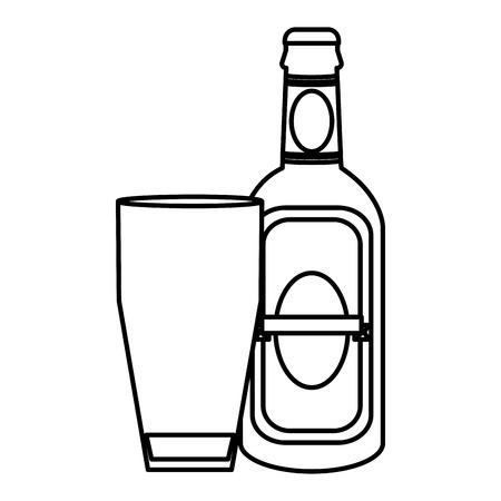 line schnapps liquor bottle beverage with glass