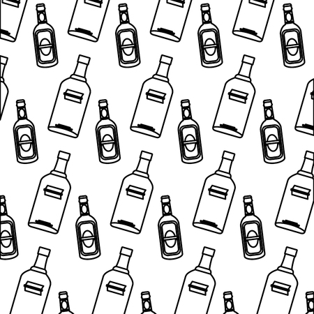 line vodka and schnapps liquor bottle background