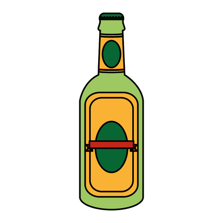 color schnapps liquor alcohol bottle beverage vector illustration Standard-Bild - 102599723