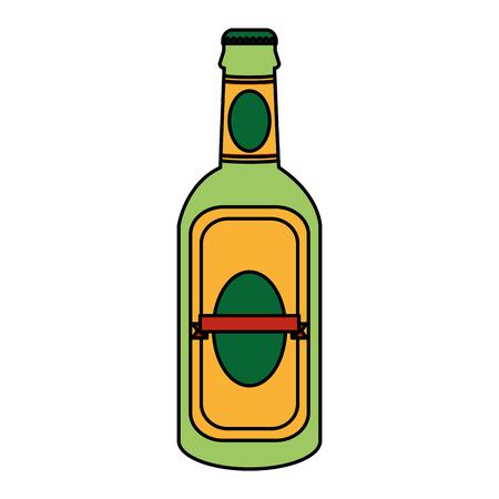 color schnapps liquor alcohol bottle beverage vector illustration Illustration