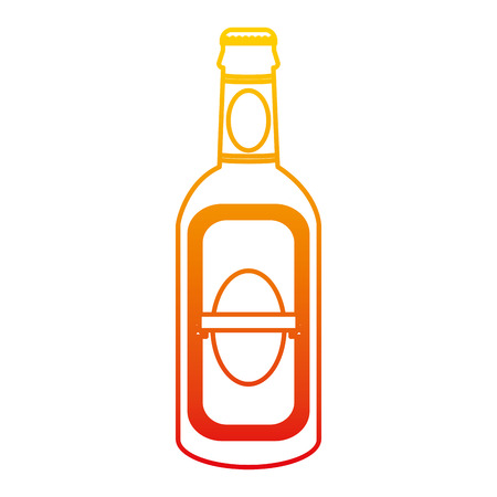 degraded line schnapps liquor alcohol bottle beverage vector illustration Standard-Bild - 102599675