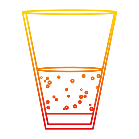 degraded line champagne beverage liquor glass alcohol vector illustration