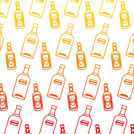 degraded line vodka and schnapps liquor bottle background vector illustration