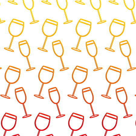 degraded line brandy and champagne glass beverage background vector illustration