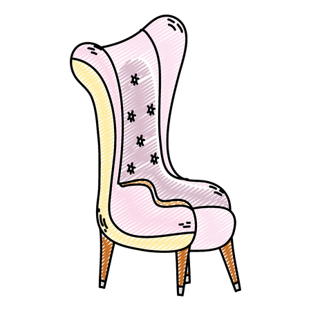 doodle modern seat soft and comfortable style vector illustration Banque d'images - 102600394