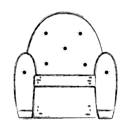 grunge seat chair modern style with armchair vector illustration Banque d'images - 102600657