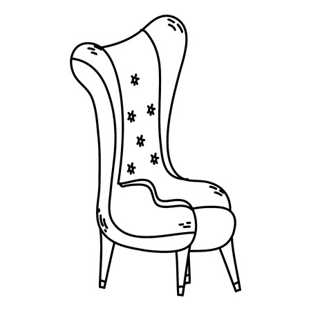 line modern seat soft and comfortable style vector illustration Banque d'images - 102600526