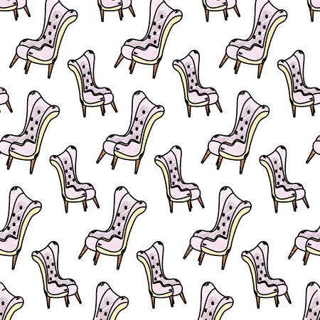 doodle modern seat soft and comfortable background vector illustration Banque d'images - 102600564