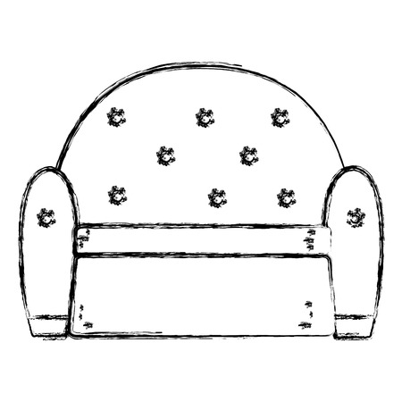 grunge chair modern object with armchair style vector illustration Banque d'images - 102600601