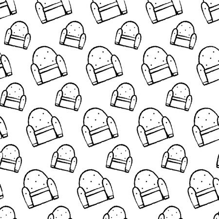 grunge seat chair modern style background vector illustration Banque d'images - 102600624