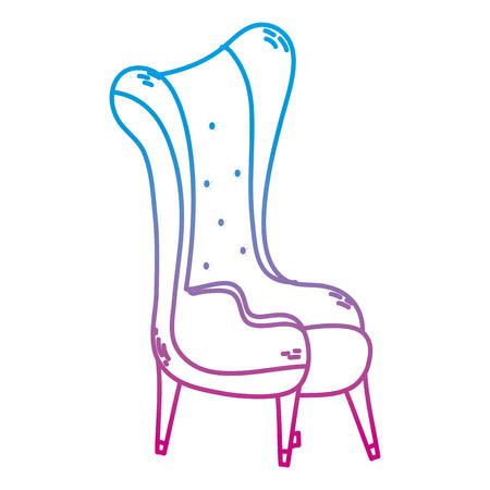 degraded line chair modern object with armchair style vector illustration Banque d'images - 102600655