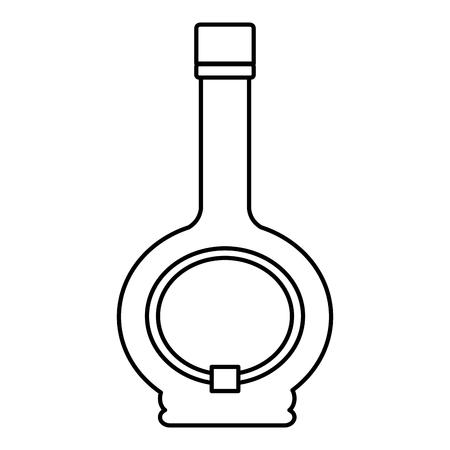line cocktail liquor bottle alcohol beverage Stock Illustratie