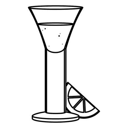 line blanco tequila glass liquor with lemon