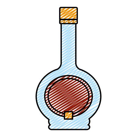 doodle cocktail drankfles alcohol drank