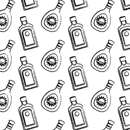 grunge hard liquor and whiskey bottle background