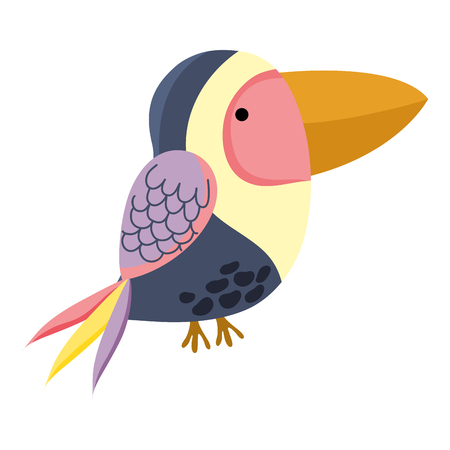 cute exotic bird wild animal