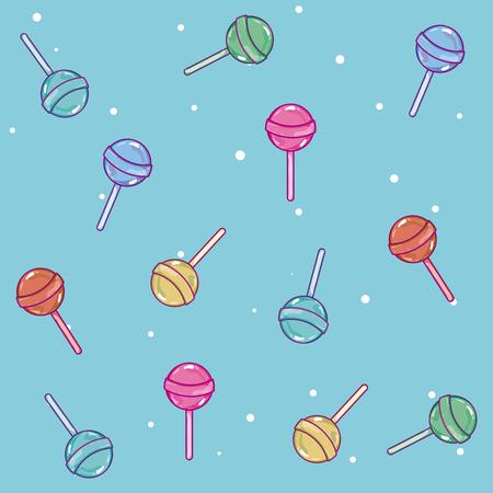 Lollipops candy pattern background vector illustration graphic design