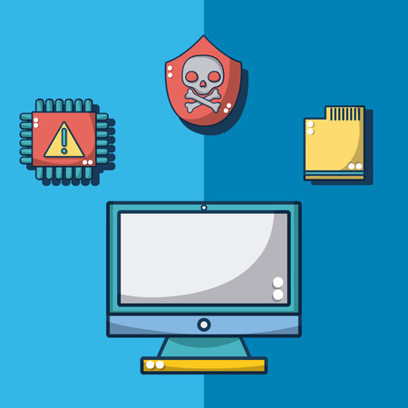 Set of meltdown and spectre collection vector illustration graphic design
