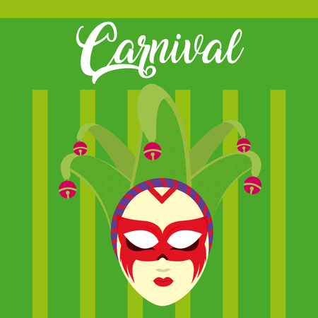 Carnival with mask and confeti vector illustration graphic design Illustration