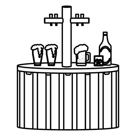 line liquor decanter alcohol beverage design vector illustration Vectores