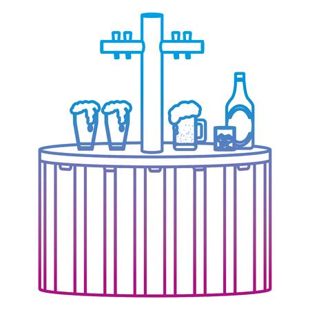 degraded line liquor decanter alcohol beverage design vector illustration