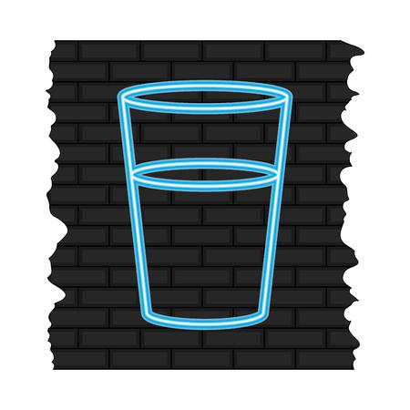 neon liquor glass alcohol flat