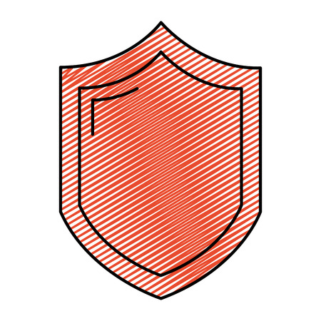 doodle security shield web protection access vector illustration