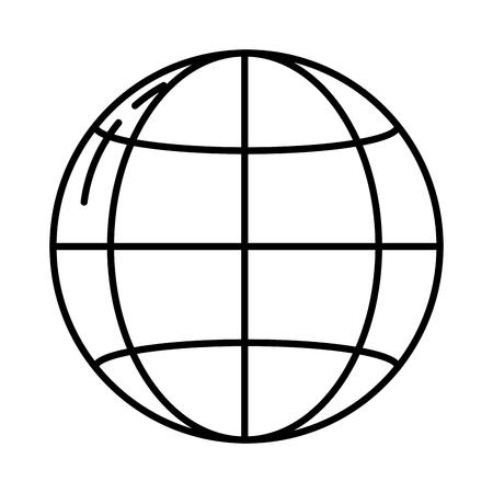 line digital network global connection data vector illustration Vettoriali