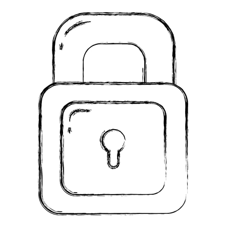 grunge security padlock object and protect element