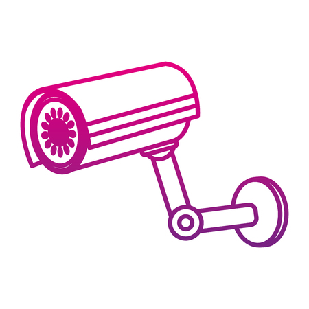 degraded line exterior video camera technology to security Illustration