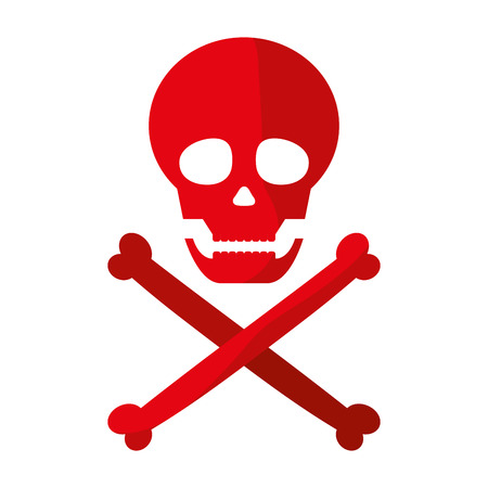 danger skull warning death symbol