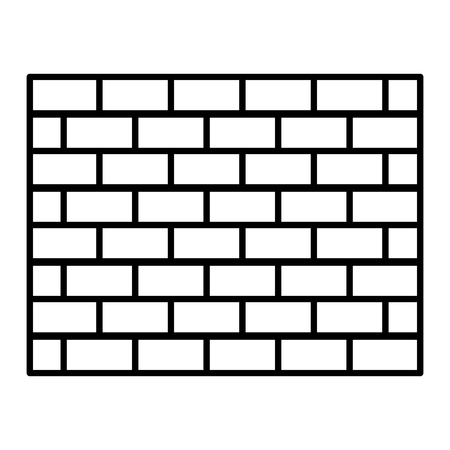 line structure brick wall architecture block