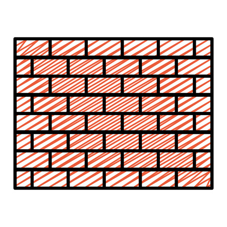 doodle structure brick wall architecture block Illustration