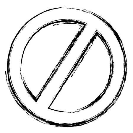 grunge circle forbidden warning alert sign