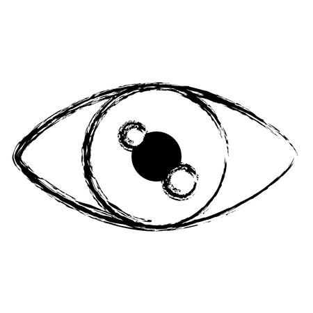 design plat de vision humaine oeil grunge