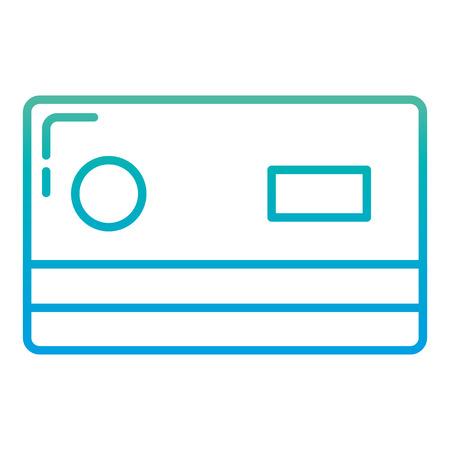 degraded line finance credit card cash commerce 向量圖像
