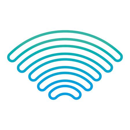 degraded line digital wifi signal mobil connection vector illustration Illustration