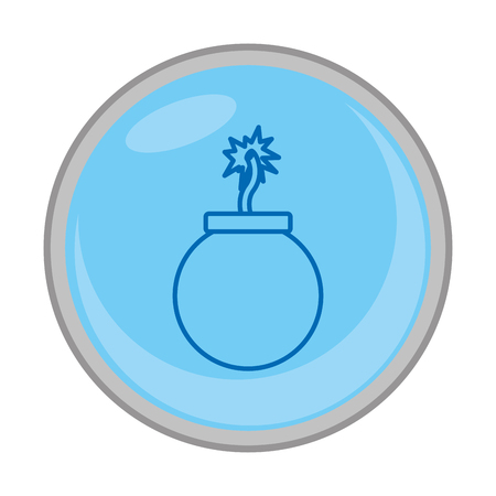 peligro, bomba, explosión, guerra, emblema Ilustración de vector