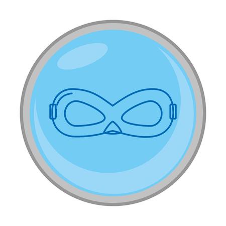 crime mask face accessory emblem vector illusstration