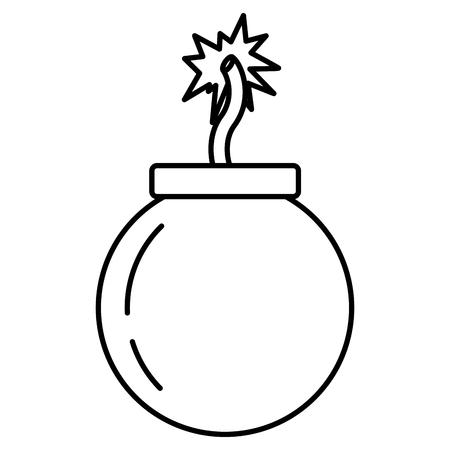 Explosión de bomba de línea darger war arma ilustración vectorial