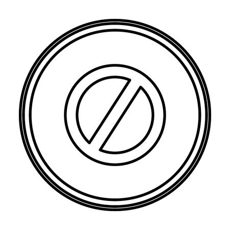 line forbidden alert warning sign emblem vector illustration
