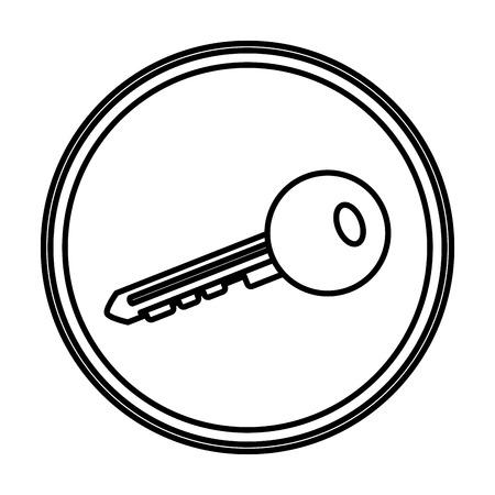 line key security access icon emblem Illustration