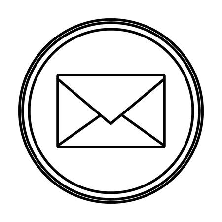 line e-mail letter message text emblem vector illustration Illustration