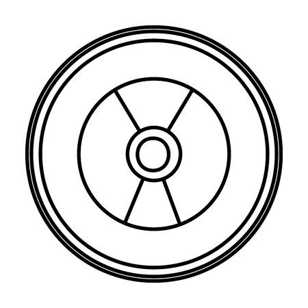 line danger hazard energy power emblem vector illustration