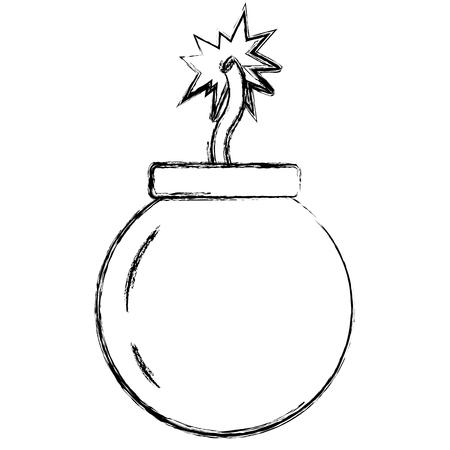grunge bomb explotion darger war weapon vector illustration Illustration
