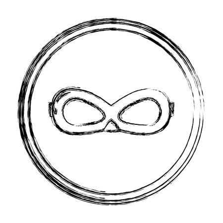 grunge crime mask face accessory emblem